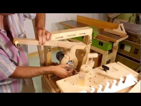 Making louvered shutters on the pantorouter