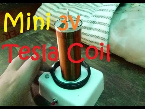 How To Make a Mini 3V Tesla Coil (step by step)