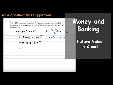 Future Value with Interest Compounded Semiannually