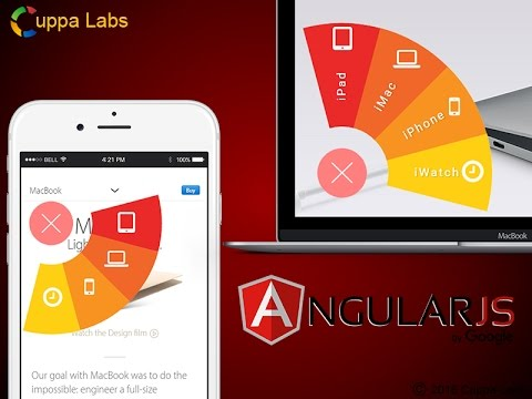Angular Menu with Fan Effect using Angular 1