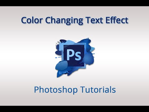 Photoshop CS6 Tutorial - How to Create Color Changing Text Animation