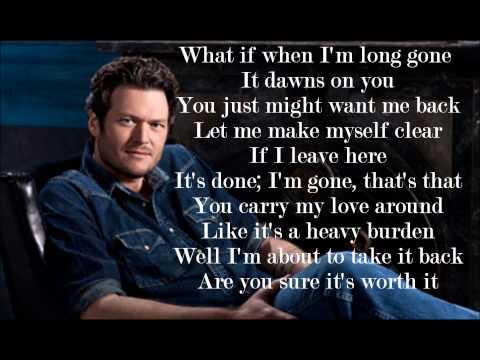 Blake Shelton- Don't Make Me Lyrics