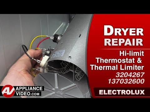 Electrolux Dryer - Inlet Thermal Limiter Hi limit Thermostat - Diagnostic & Repair