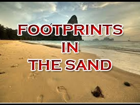 Footprints in the Sand - Inspirational Quote Video