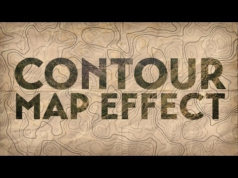 How To Create a Contour Map Effect with Photoshop & Illustrator