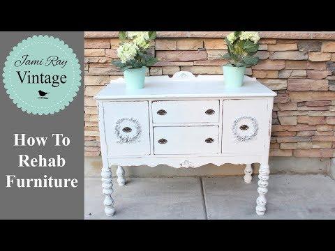 How To Rehab Furniture | Furniture Appliqués | Farmhouse Buffet