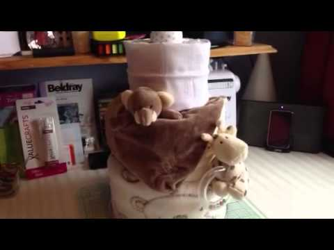 Step 5 - How to make a Nappy Cake | @JustRosieBeauty