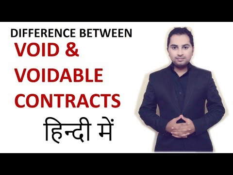 Difference Between Void And Voidable Contract Indian Contr