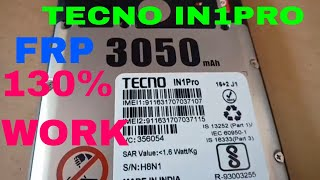 tecno in1pro frp remove without computer without box tool 100%test hindi