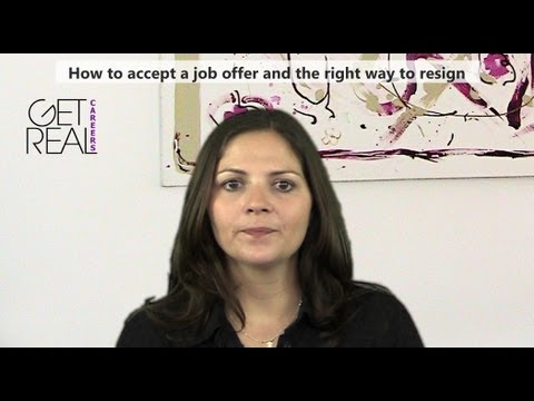 How to accept a job offer and the right way to resign