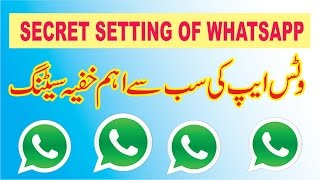 Amazing Secret of WhatsApp Messenger, How to Disable your Last Senn Status
