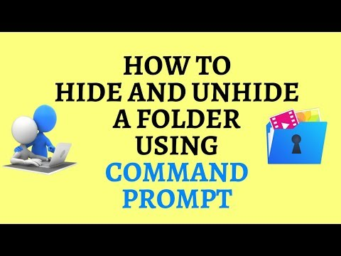 How to hide & unhide a folder using