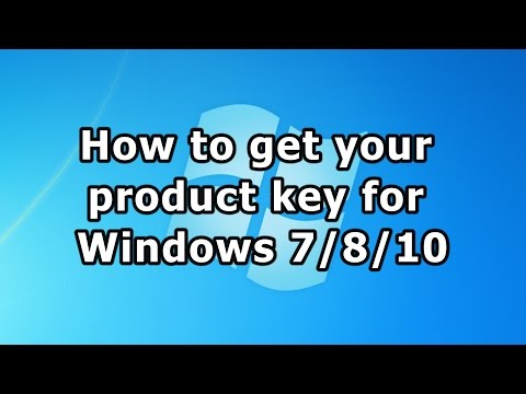 How to get your product key for Windows 7/8/10