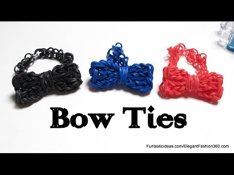 Rainbow Loom Bow Tie Charm - how to - Father's Day Gift Idea Series