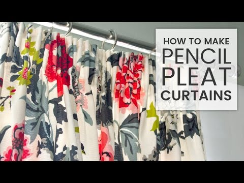 How to Make Pencil Pleat Curtains