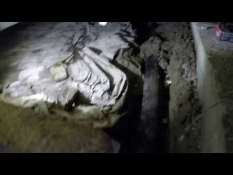 Tight crawl space, installing vapor barrier after trenching