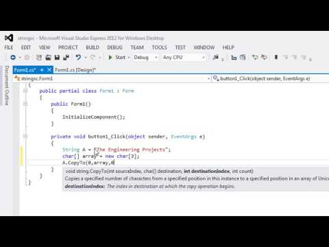 077 - How to use C# string CopyTo