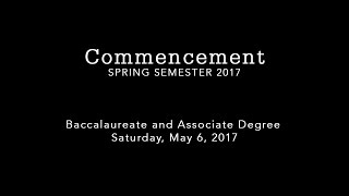 IST Spring 2017 Commencement
