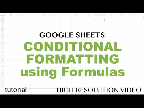 Google Sheets - Conditional Formatting Based on Another Cell Using Formulas Tutorial