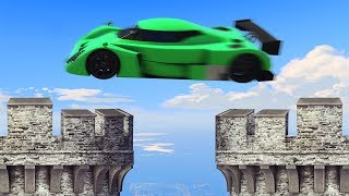 EXTREME CASTLE STUNTING PARKOUR! (GTA 5 Funny Moments)
