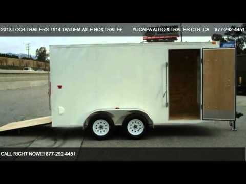 2013 LOOK TRAILERS 7X14 TANDEM AXLE BOX TRAILER W/RAMP   - for sale in REDLANDS, CA 92373