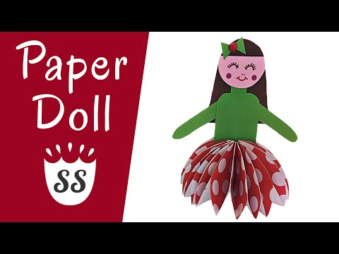 How To Make A Paper Doll Easy For Kids | Cute Paper Doll Making Ideas For Kids