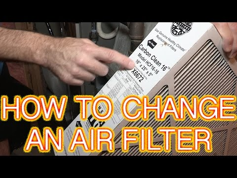 How to change a high efficiency furnace air filter Lennox HCF16-16 Filter Carbon Clean Review