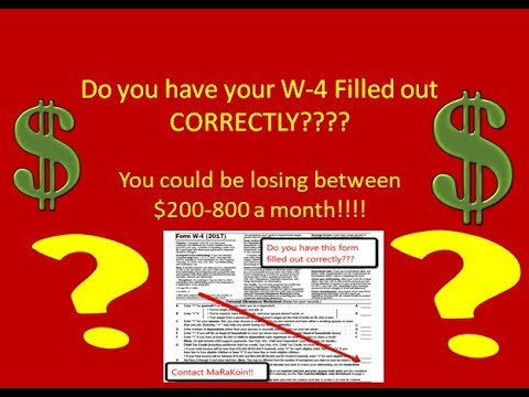 W-4 form!! Do you have it filled out correctly?