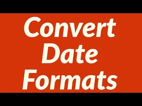 Convert Date Formats