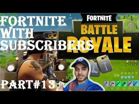 FORTNITE WITH SUBSCRIBERS from PAKISTAN HINDI part 13 Ps4