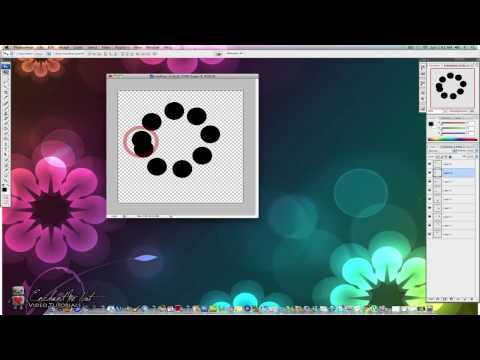HOW TO: Create Animated Loading Circles using Photoshop CS3 [HD]
