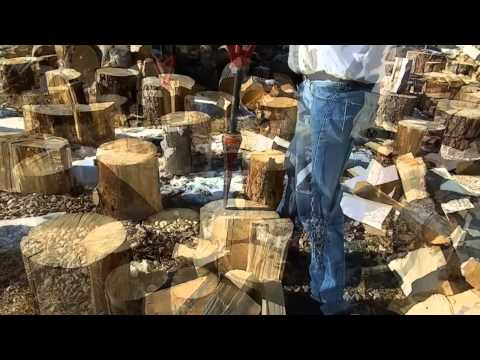 Splitz-All with the Splitz-Assist : split firewood with a safe easy wood splitter - By Good N Useful