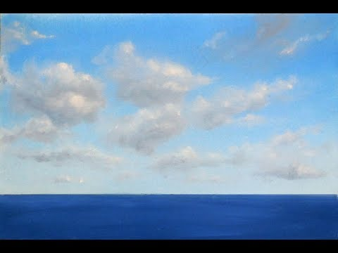 How to Paint Clouds with Oil Paint Tutorial