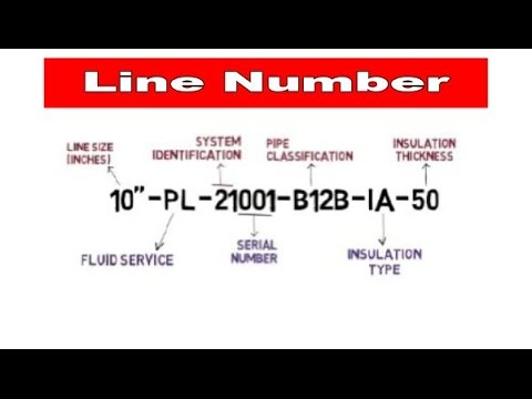 Pipe Line Number for P&ID   Isometric   Piping GA   Piping Official