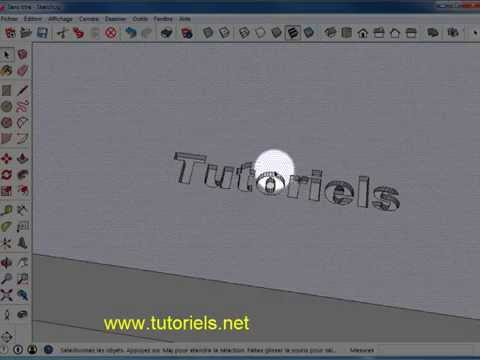 Sketchup Extruder texte 3D