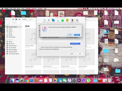 How to delete iphone backup from itunes on Mac OS