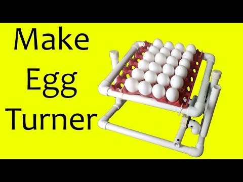How to make auto egg incubator tray from pvc pipes | pvc egg turner | pvc pipe projects | how to diy