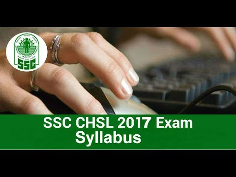 SSC CHSL 2017 Exam Syllabus (Group B)