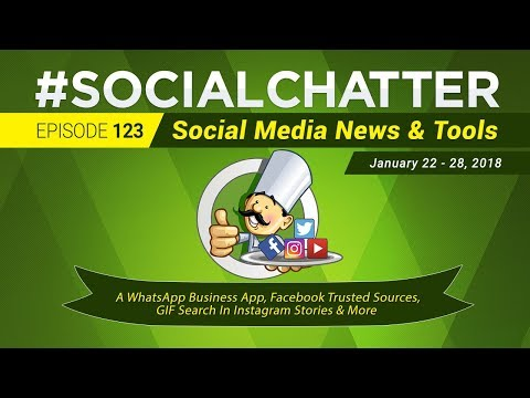 Social Media Marketing Talk Show 123 - WhatsApp business app, Instagram GIF stickers, Snap Stories