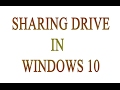 HOW TO SHARE HARD DISK DRIVE FULL IN NETWORK @WINDOWS 10