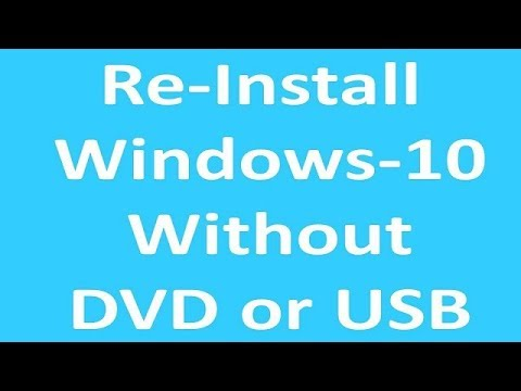 Reinstall Windows 10 Without installation DVD or USB | Install Windows without Installation Media