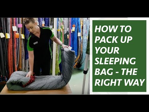 Camping Hack:  How to pack your sleeping bag easily & give your bag a longer life!