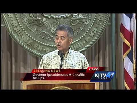 Gov. Ige makes statement on Oahu traffic problem