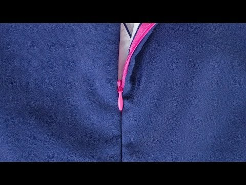 How to Sew An Invisible Zipper With A Lining