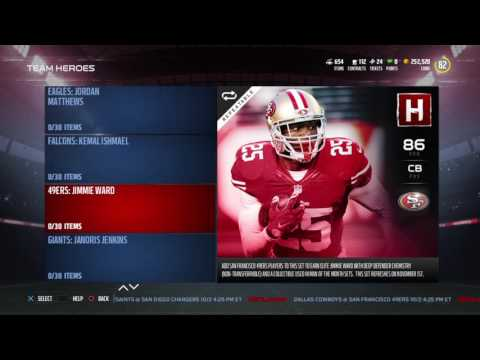 New October Team Heroes Are Lit !!! Madden NFL 17