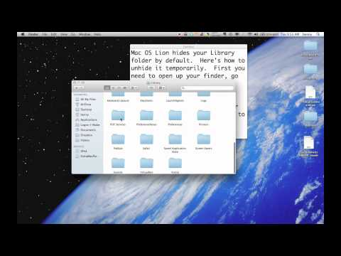 How to unhide Library folder on Mac OS X Lion