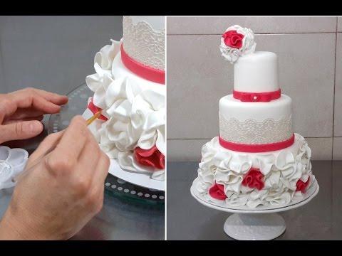 Wedding Cake Decorating with Fondant & Sugar Lace by Cakes StepbyStep
