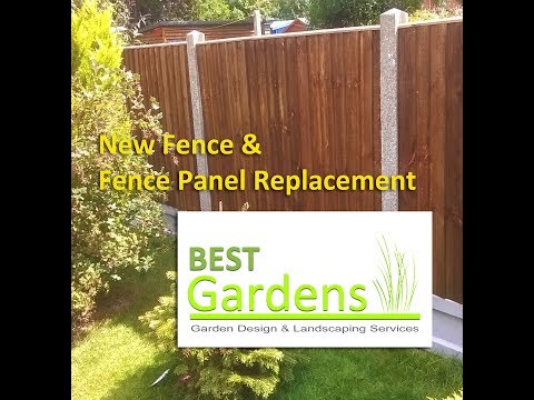 New Fence & Fence Panel Replacement