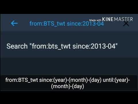 How to find BTS' old tweets?