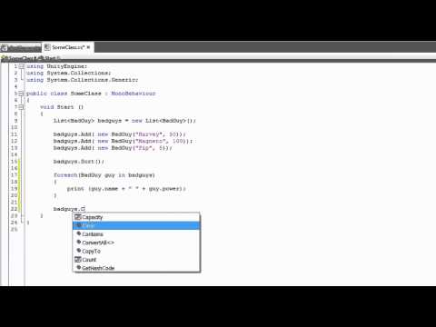 Lists and Dictionaries - Unity Official Tutorials